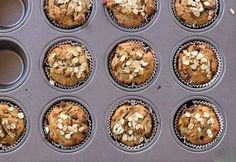 These healthy breakfast muffins are a great way to start your morning! 1 cup plain Greek yogurt 2 ripe bananas 2 Tbsp Golden Flaxseed Meal 6 Tbsp Water 2 cups rolled oats ¼ cup brown sugar 1½ tsp. baking powder ½ tsp. baking soda ¼ cup mini chocolate chips ¼ raisins Combine flaxseed meal and…