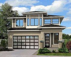 Contemporary Home Plan With Options - 23523JD | Contemporary, Northwest, Prairie, Narrow Lot, 2nd Floor Master Suite, Butler Walk-in Pantry, CAD Available, Den-Office-Library-Study, Loft, PDF | Architectural Designs
