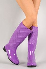 Also buying these on payday;) #urbanog #holidaytrends Jelly Quilted Knee High Rain Boot