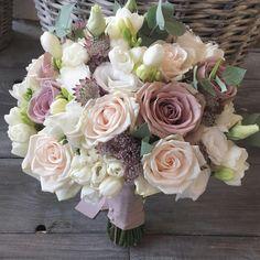 Bridesmaid Bouquet, Wedding Bouquets, Wedding Flowers, Rose Centerpieces, Victoria Wedding, Arte Floral, Felt Flowers, Red Roses, Wedding Details