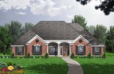 Style House Plans - 2854 Square Foot Home , 1 Story, 3 Bedroom and 3 Bath, 2 Garage Stalls by Monster House Plans - Plan European House Plans, Southern House Plans, Country House Plans, Modern House Plans, Southern Homes, Southern Style, House Plans 3 Bedroom, Ranch House Plans, House Floor Plans