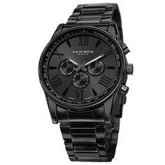 AJ Akribos XXIV Men's Multifunction Tachymeter Stainless Steel Bracelet Watch - Overstock™ Shopping - Big Discounts on Akribos XXIV Akribos XXIV Men's Watches