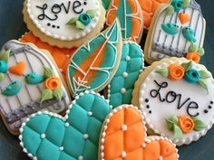 For the birds- bridal shower cookies by Cindy Collis /// 3rdRevolution