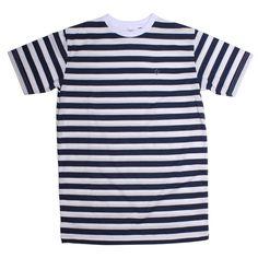 Oceania - short sleeve tee features the dark blue stripes all over | IDR 125000