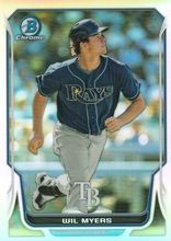2014 Bowman Chrome Ref /500 #145 Wil Myers Tampa Bay Rays