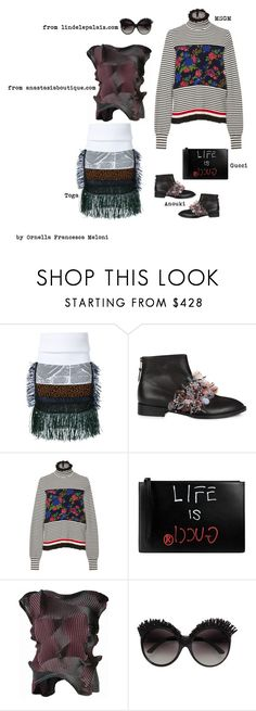 """""""L. X."""" by orme ❤ liked on Polyvore featuring Toga, Anouki, MSGM and Gucci"""