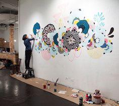 Yellena james دکور in 2019 mural wall art, murals street art, wall drawing. Mural Wall Art, Mural Painting, Painting & Drawing, Paintings, Murals Street Art, Yellena James, School Murals, Wall Drawing, New Wall