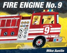 Told almost entirely in sound words, this day-in-the-life look at a fire engine crew will appeal to the youngest vehicle enthusiasts and to parents with a penchant for exuberant read-aloud sessions. With art reminiscent of that in Donald Crews's transportation books, Mike Austin evokes the excitement of a 911 call as we follow firefighters sliding down the fire pole, racing through town, and up the ladder truck.