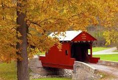 Ebenezer Covered Bridge, Washington County, Pennsylvania...in Autumn