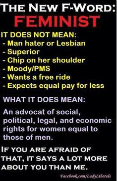 #feminism Not until attending Morgan did I understand this term. Women of all color need to fight for equality.