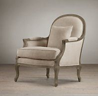 Lyon Chair | Chairs | Restoration Hardware - would like this for my guest bedroom!  Buy it for me....c'mon....