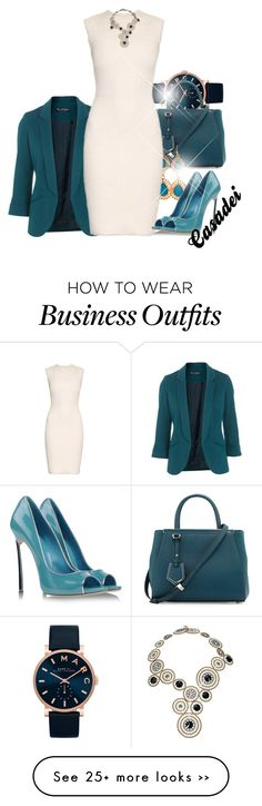 """Work-wear 17"" by starpretygirl on Polyvore featuring Marc by Marc Jacobs, Miss Selfridge, Fendi, Alexander McQueen, Casadei and Caleidoscopio"