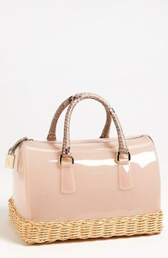 Does this bag look fun or what?  Love the texture.  Furla 'Candy' Rubber Satchel available at #Nordstrom