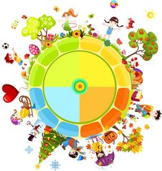 Find Seasons Year stock images in HD and millions of other royalty-free stock photos, illustrations and vectors in the Shutterstock collection. Seasons Of The Year, Four Seasons, Season Calendar, Activities For Kids, Crafts For Kids, Printable Board Games, Lessons For Kids, Pictogram, Science And Nature