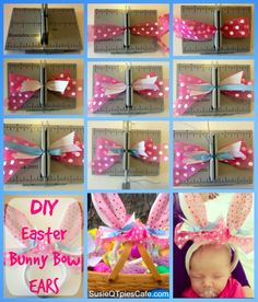 Step by Step - Easter Bunny Ears Craft to make the perfect bows