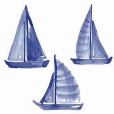Sailboats Wall Cutouts | OceanStyles.com Winning The Lottery, Lake Life, Outdoor Gear, Wall Decals, Tent, Nautical, Sailing, Sailboats, Crafts