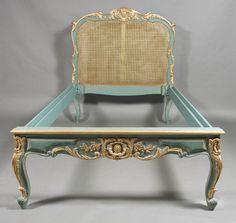 H-Kw-5 Schönes Bett im Barock Stil des Louis Quinze