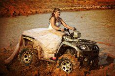 Trash the Dress Idea:  Go four-wheeling through mud