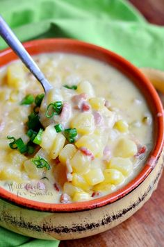 Greatest Baked Potato Soup Ever! | from willcookforsmiles.com