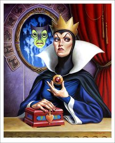 Evil Queen | 25 Beautifully Reimagined Disney Posters That Capture The Magic Of The Films