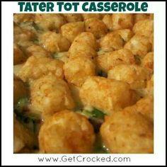 Tater Tot Casserole - crock pot style