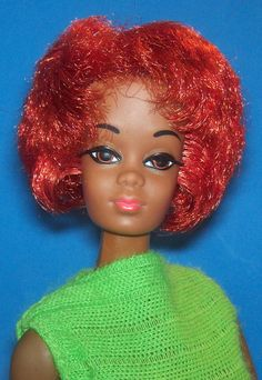 Vintage Talking Christie Doll OSS #1126 1968 Oxidized Red Hair Rooted Lashes