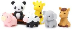 Kids' Pencil Erasers - Iwako Japanese Puzzle Take Apart Erasers Zoo Animals Set of 7 * More info could be found at the image url.