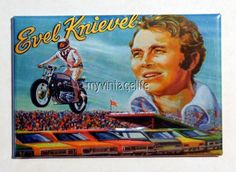"Vintage Evel Knievel Lunchbox Retro 2"" x 3"" Fridge MAGNET"