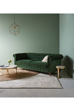 Lyre Chesterfield Two-Cushion Sofa by Anthropologie in Assorted Size: All, Hanging Furniture, Living Furniture, Living Room Sofa, Sofa Furniture, Pallet Sofa, Pallet Benches, Pallet Tables, Pallet Bar, 1001 Pallets