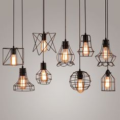 Vintage Industrial Metal Cage Pendant Light Hanging Lamp Edison Bulb lighting Fixture New loft  Pendant Lamps for Bar Bedroom