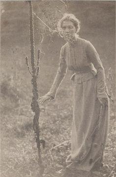 "American photographer: Clarence Hudson White, (1871-1925). ""The Web"", c.1899.  An enchanting, platinum print photograph. ~ {cwlyons}"