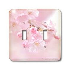 Amy Dyckovsky Roadside Collection - Kwanza Pink Cherry Blossoms - Light Switch Covers - double toggle switch