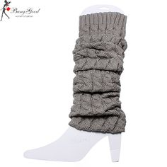 Women Knee High Leg Socks Winter Knit Crochet Warmers Legging