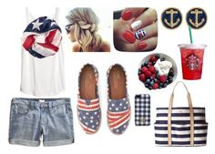 fourth of july parade + barbecue by saracantillo on Polyvore featuring H&M, J.Crew, TOMS, Kate Spade and Tory Burch