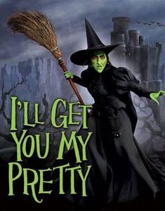 "WIZARD OF OZ Wicked Witch I'LL GET YOU MY PRETTY Tin Sign, 12.5"" x 16"" Halloween"