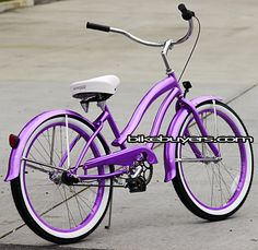 purple cruiser...mine has a white basket!  I have one, too, & so does my daughter:)