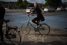 black on black + pop of color + bike