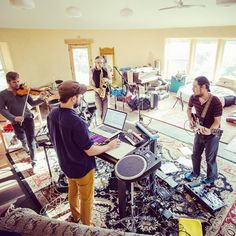 Polish Ambassador & The Diplomatic Scandal (TPA Live Band) practice at the @jumpsuitrecords farm roundhouse. Can not wait to bring the live band around the country in 2018!