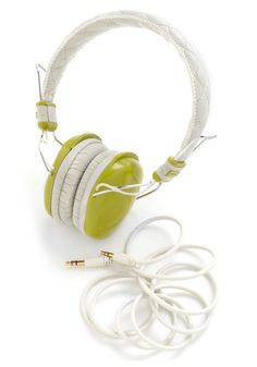 fddf607185e Set the Tune Headphones in Green, #ModCloth Headphone Splitter, Lipstick  Set, Pen