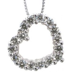 Diamond pendant with 0.33carat total diamond weight in 14k white gold | #mothersday #Mom #love #heart