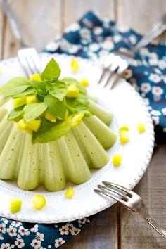 Saveurs Végétales: Petit flan de poivrons verts au basilic