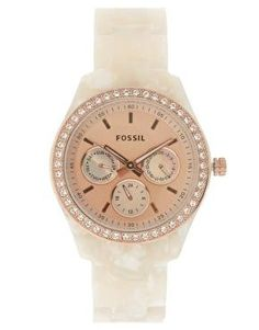 Fossil Watch - love the white and rose gold Christ,as @Tricia Leach Leach Blair