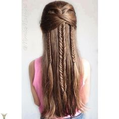 nice Fancy Little Girl Hairstyle with Braids...