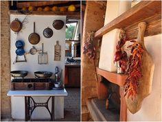 In the kitchen at Masseria Provenzani Puglia