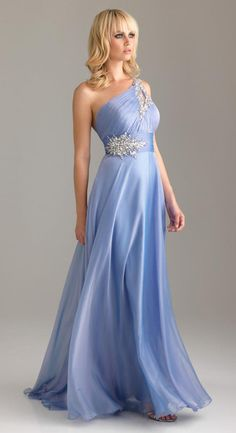 2012 A-line One Shoulder evening dress, prom dress, bridesmaid dress, evening gowns, Ball Gown.