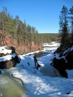 Frozen river in Lapland by RukaKuusamo.com, via Flickr
