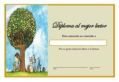 Actividades para la animación lectora: Diplomas al mejor lector/a