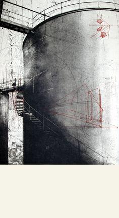 #Wenceslao #Robles TÍTULO: Pasarela • TÉCNICA: Aguafuerte, aguatinta y punta seca • TAMAÑO PAPEL/PLANCHA (cms):49x90/49x68 • EDICIÓN: 25 ejemplares • http://www.a-cuadros.com/artistas/artista/195