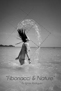 Creative Art Fibonacci & Nature by Ignasi Rodriguez #art #creative #photography #fibonacci #blackandwhite #beach #model #nature #design