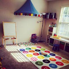 Play room and reading corner  IKEA rug